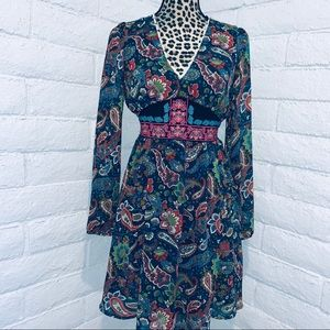 Flying Tomato paisley/floral dress size M